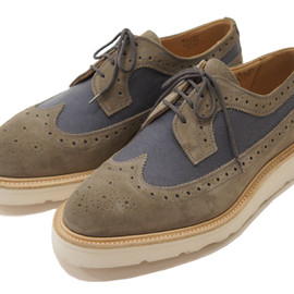 Tricker's × Engineered Garments - Two Tone Derby Brogue