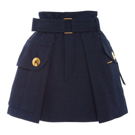 MARC JACOBS - SS2015 Black Melange Suiting Two Pocket Skirt