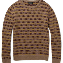 A.P.C.  - A.P.C. Jacquard Knit Lambswool Sweater