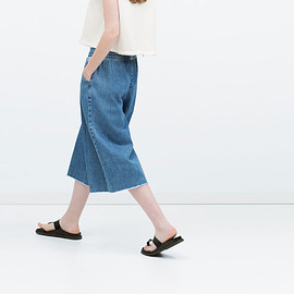 ZARA - DENIM CULOTTES