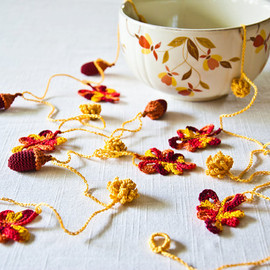 Bobbi Lewin - Thanksgiving Decor Crochet Garland