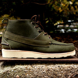 Sebago, Ronnie Fieg - Iroquois Lux Boot - Olive