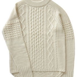 KID MOHAIR TRICOLOR SWEATER