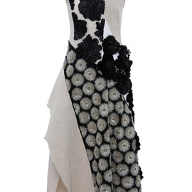 MARNI - SS2015 Cotton Linen Canvas Sleeveless Dress With Flower Embellishment
