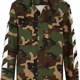 Off-White - Oversized camouflage-print cotton-canvas jacket