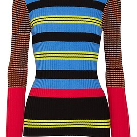 Opening Ceremony - Striped ribbed-knit sweater