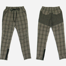 SUNSEA - Glen check flea market pants