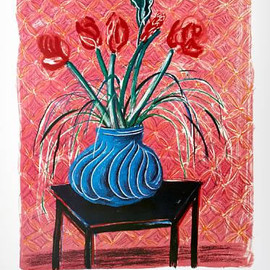David Hockney - amaryllis