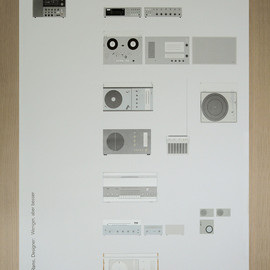 BRAUN - Poster of Dieter Rams' audio products