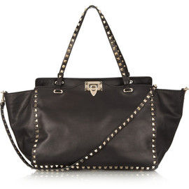 VALENTINO - Rockstud leather tote black