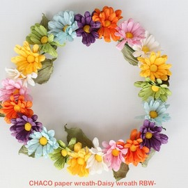CHACO - paper wreath Daisy RBW