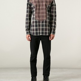GIVENCHY - checked paneled shirt