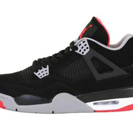Nike - NIKE AIR JORDAN IV RETRO BLACK/CEMENT GREY-FIRE RED