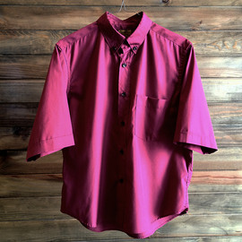 BROWN by 2-tacs - T/C Short Length Shirts/Burgundy
