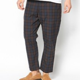 bal - BAL COTTON TARTAN PLAID DRAWSTRING PANT