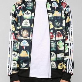 adidas originals - adidas Print Superstar Zip-Up Sweatshirt