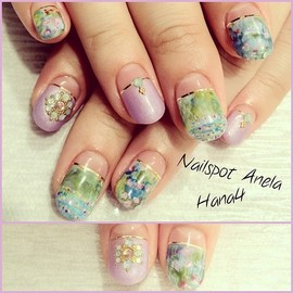 "MONET 睡蓮ネイル - I am placing it in the "" #Ginza "" June issue✨I imaged #monet .plz check it!!#nail #nails #nailart #nailarts #nailswag #nailartclub #nailspotanela #ネイル #ネイルアート #swarovski #kirakira #instanail #instanails #instanailart #japanesenail  #japanesemagazine #magazine #claudmonet #モネ #睡蓮 #paint #paintart #paintarts #art #handpaint #手描きアート nails by #hana4"