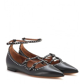 GIVENCHY - Embellished leather ballerinas