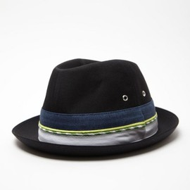 COMME des GARCONS SHIRT - Men's Gabardine Denim and Check Trilby Hat