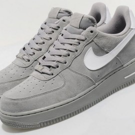 Nike - Nike Air Force 1 Low - Medium Grey Suede