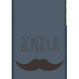 SECOND SKIN - uistore 「BONJOUR (NAVY)」 / for iPhone 5c/docomo