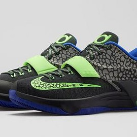 Nike - NIKE KD7 METALLIC PEWTER/ANTHRACITE/LYON BLUE/FLASH LIME