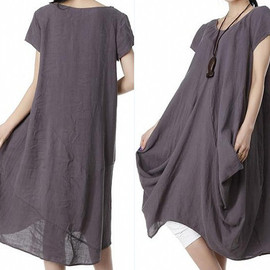 Long Dress - Simple time/ Mini Linen Wear Long Dress