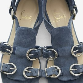 Christian Louboutin - Christian Louboutin /steel blue flat sandals