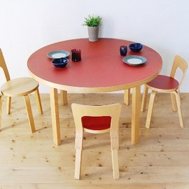 artek - dining table(red)