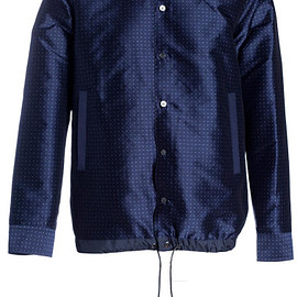 sacai - Sacai Mens Spotted Drawstring Hem Jacket in Blue for Men (navy)