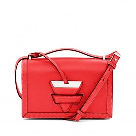 LOEWE - LOEWE Barcelona Shoulder Bag In Red Crocodile