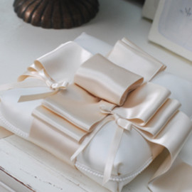 Vingt Quatre - pillow/ribbon・white