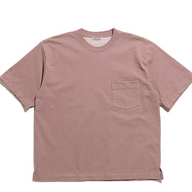 AURALEE - Stand Up Tee-Purple Brown