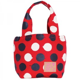MAKE ART YOUR ZOO - BASKET TOTE Giant Polka by GASIUS