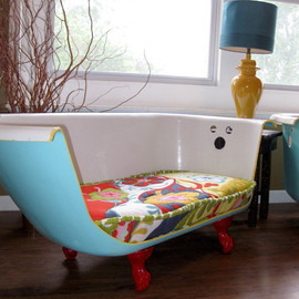 Ruff House Art  - Cast Iron Bathtub Couch