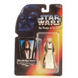 kenner - STAR WARS Power of the Force Ben Kenobi Red Card Action Figure with Lightsaber and Removable Cloak