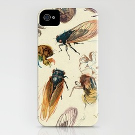 Society6 - summer cicadas iPhone Case