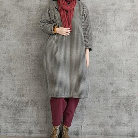 Winter gown - Oversized Loose Fitting Winter dress, Cotton linen robes, Maternity Clothing, Winter gown