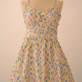 Flower patched dress