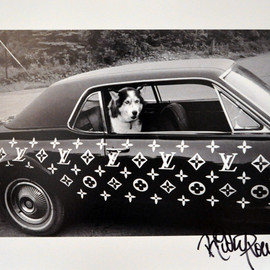 Ricky Powell - Husky Dog in Custom Louis Vuitton Car