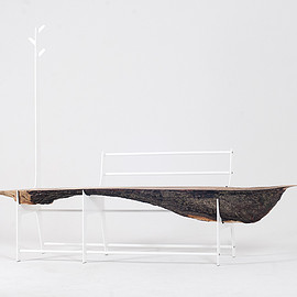cradle. - Minimal Trunk Bench Made From Tree(Maple wood)