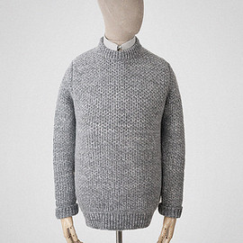 S.E.H Kelly - Crewneck jumper in ash-grey lambswool