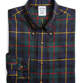 Brooks Brothers - Blackwatch with red and yellow tartan sport shirt