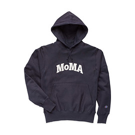 MoMA - Champion Hoodie - MoMA Edition in color Navy