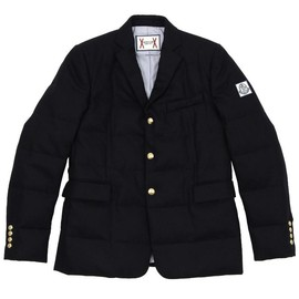 MONCLER GAMME BLEU - Navy  Padded Blazer with gold buttons
