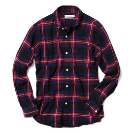 HEAD PORTER PLUS - TARTAN CHECK SHIRT NAVY