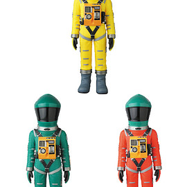 MEDICOM TOY - VCD SPACE SUIT YELLOW Ver./GREEN Ver./ GREEN HELMET & ORANGE SUIT Ver.