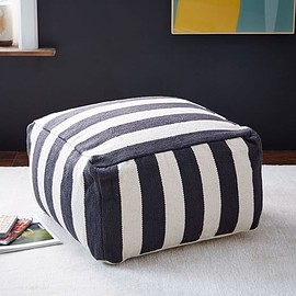 west elm - Simple Stripe Pouf