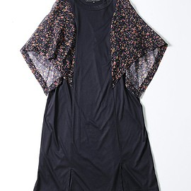 ANREALAGE - flower chiffon sleeve dress