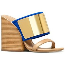 Chloe - Chloe Blue & Metal Wedge Sandal Resort Accessories 2014